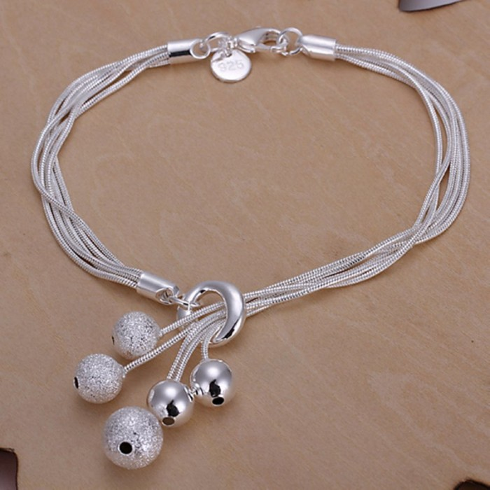 SH243 Fashion Silver Jewelry 5Chain Ball Bracelet For Women