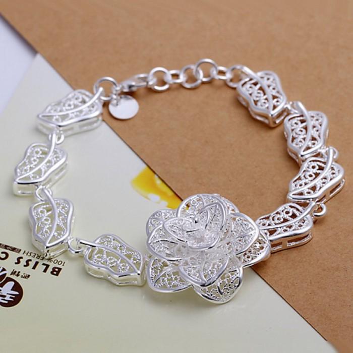 SH244 Fashion Silver Jewelry Beauty Flower Bracelet For Women