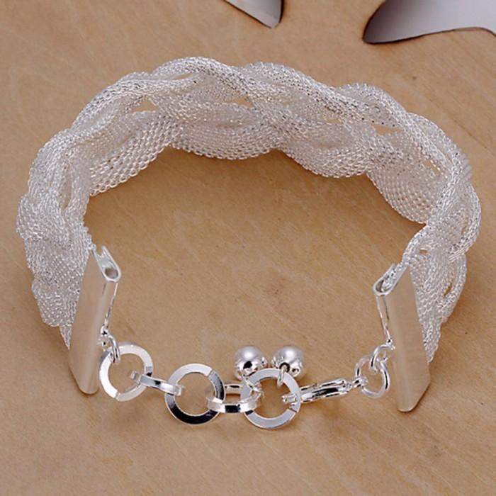 SH253 Fashion Silver Jewelry Weave Mesh Bracelet For Women
