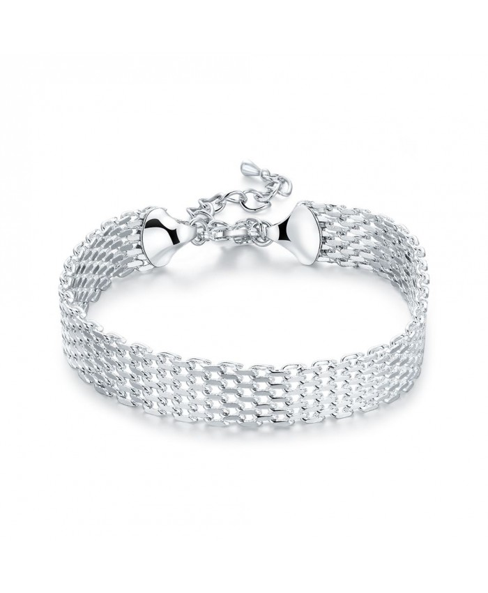 SH563 Fashion Silver Jewelry Mesh Cuff Bracelet For Women