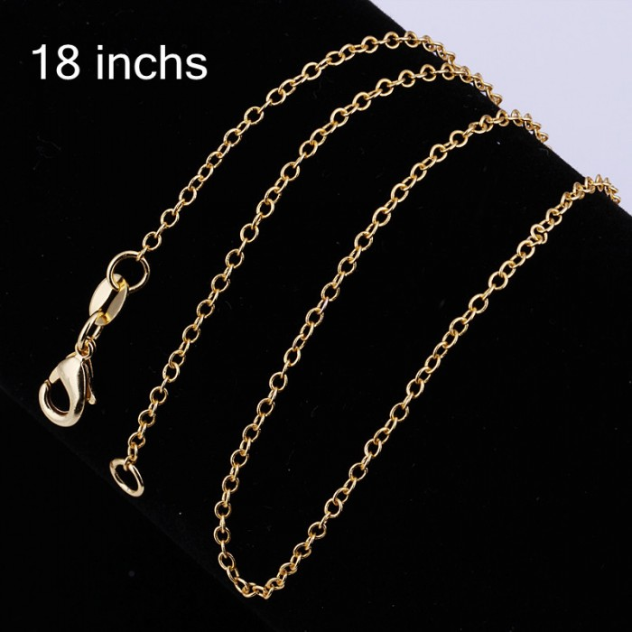 CC003 3Pcs Gold Plated O Chain 18 Inches Necklace