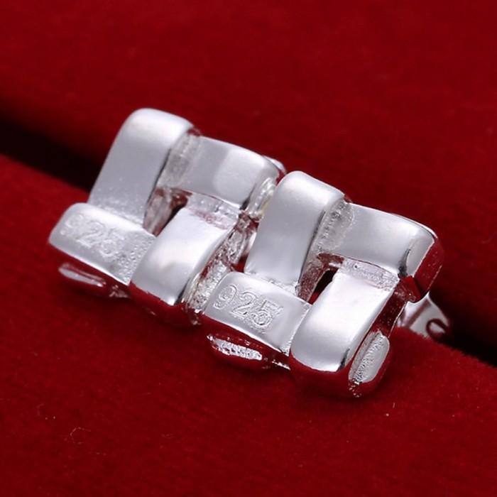SE029 Silver Jewelry Square Stud Earrings For Women