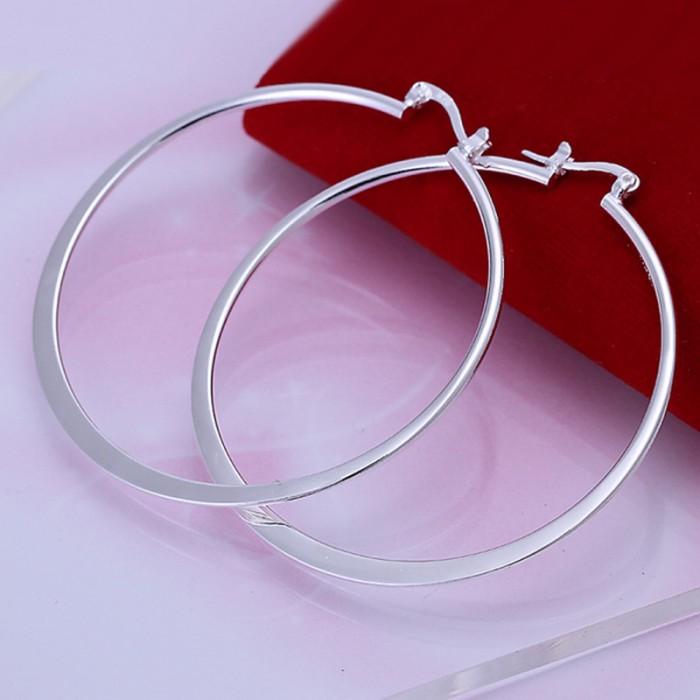 SE043 Silver Jewelry Beauty Circle Hoop Earrings For Women