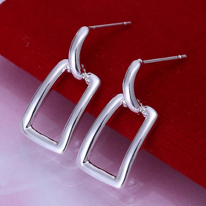 SE057 Silver Jewelry Easy Stud Earrings For Women