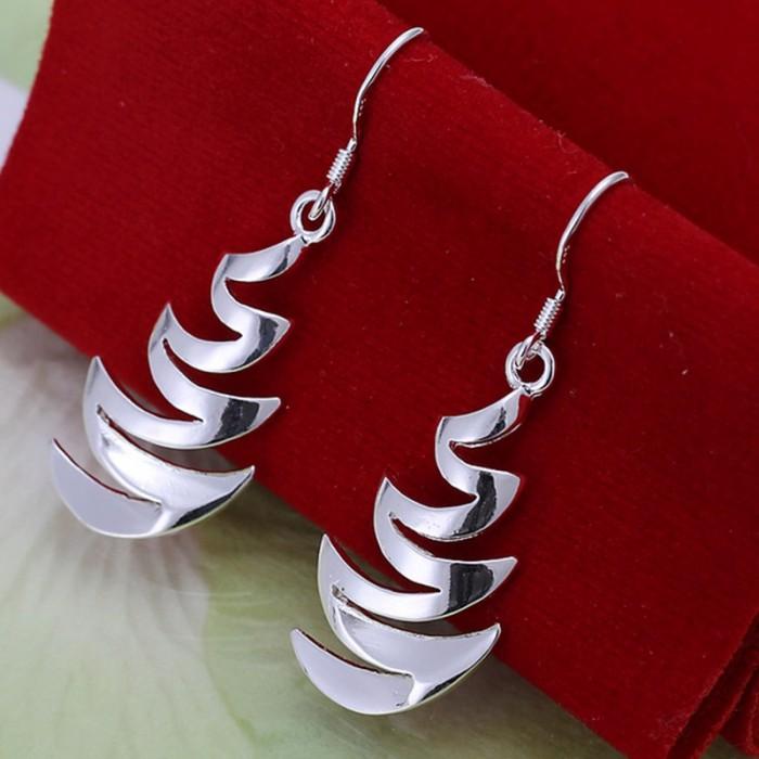 SE203 Silver Jewelry Moon Dangle Earrings For Women