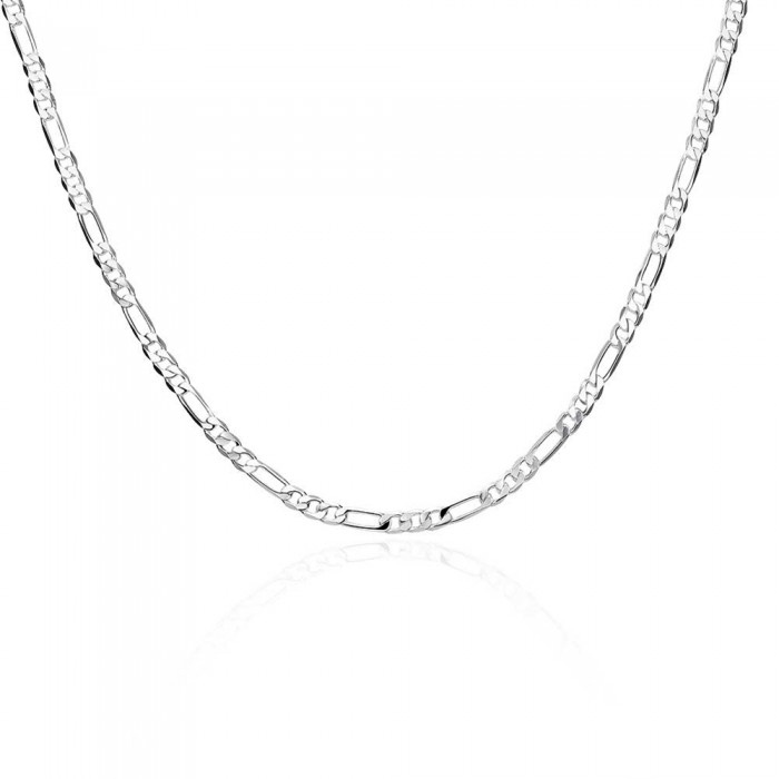 SN102 Hot Silver Men Jewelry 4MM 16-30inch Chain Necklace Women