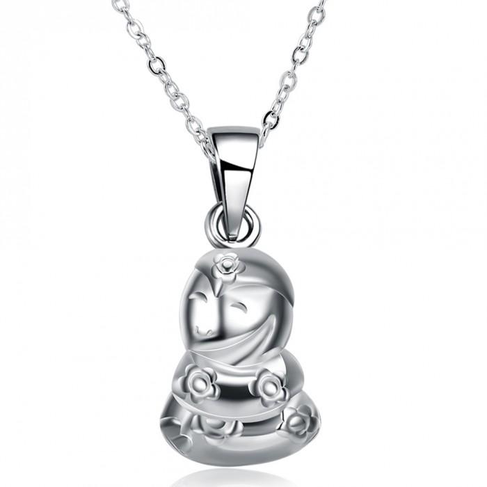 SN1120 Silver Jewelry Zodiac Snake Pendants Necklace Men Women