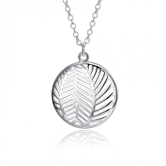 SN1128 Fashion Silver Jewelry Leaf Pendants Necklace For Women