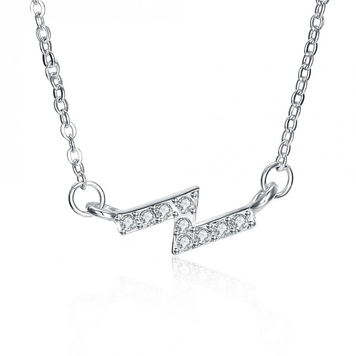 SN1131 Hot Silver Jewelry Crystal Z Pendants Necklace For Women