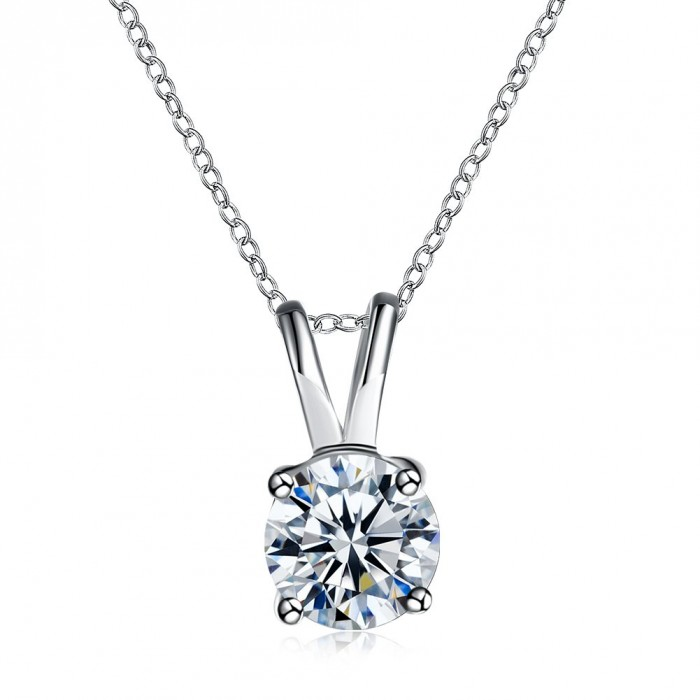 SN1140 Fashion Silver Jewelry Crystal Cute Pendants Necklace