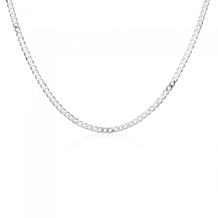 SN132 Fashion Silver Men Jewelry 4MM Chain 16-30inch Necklace
