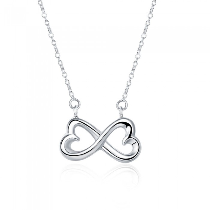 SN148 Fashion Silver Jewelry Chain Bowknot Pendants Necklace