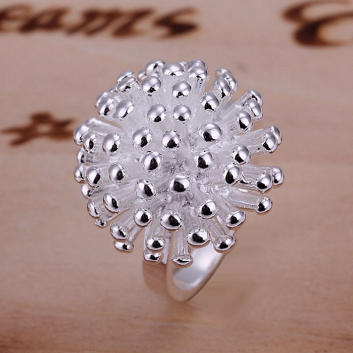 SR001 Fashion Silver Jewelry Firework Rings For Women