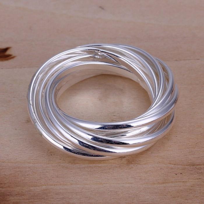 SR007 Fashion Silver Jewelry 9Circle Rings Men Women