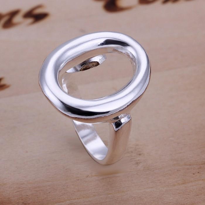 SR008 Fashion Silver Jewelry Open O Rings Men Women