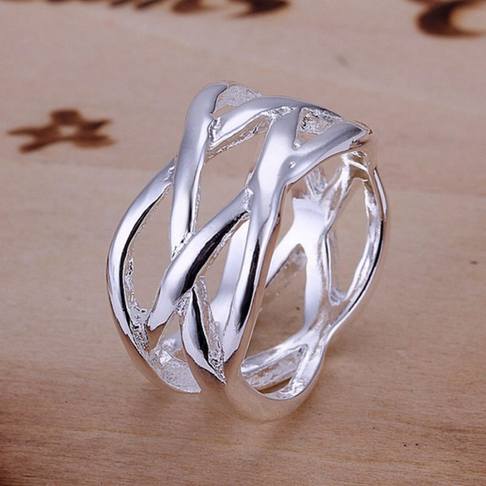 SR010 Fashion Silver Jewelry Cross Rings Men Women
