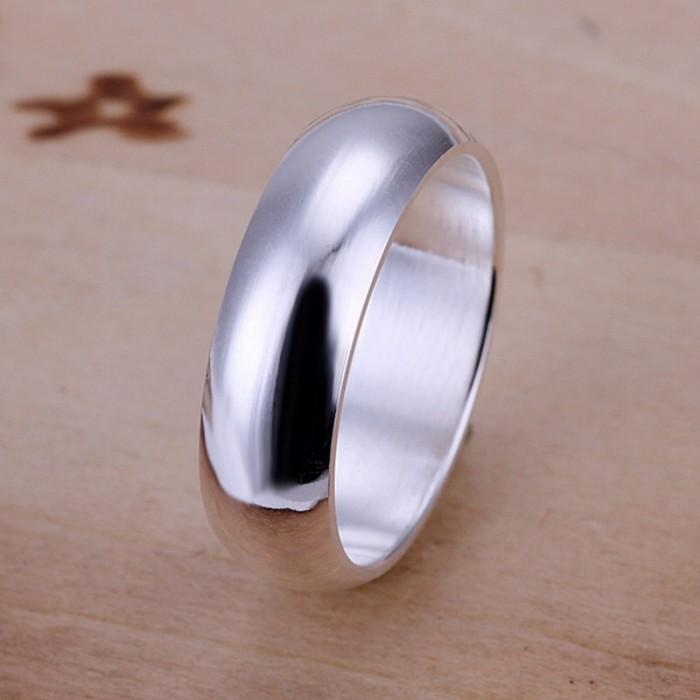 SR025 Fashion Silver Jewelry Bright Circel Rings Men Women