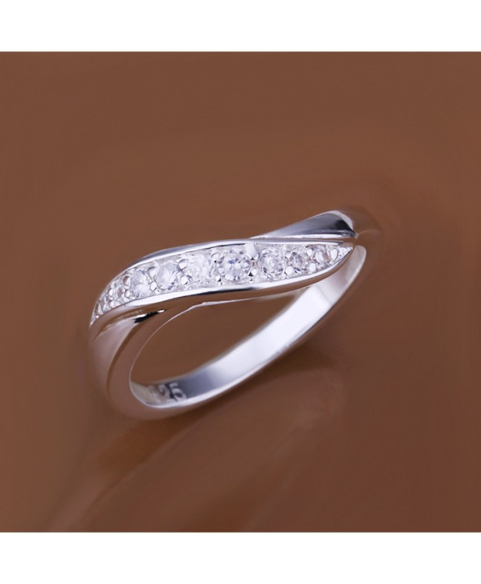SR159 Fashion Silver Jewelry Crystal Easy Rings For Women