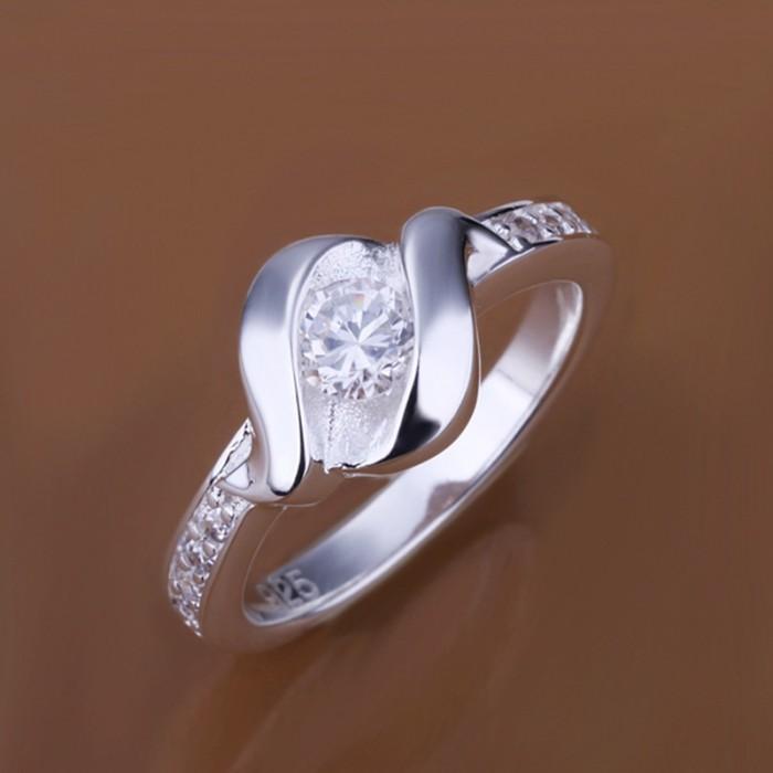 SR160 Fashion Silver Jewelry Crystal Beauty Rings For Women