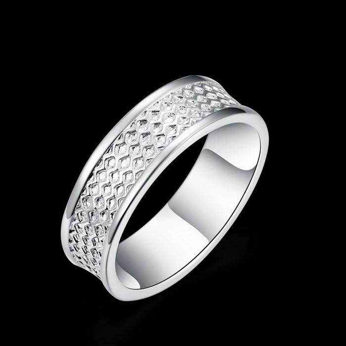 SR170 Fashion Silver Jewelry Circle Rings For Men Women