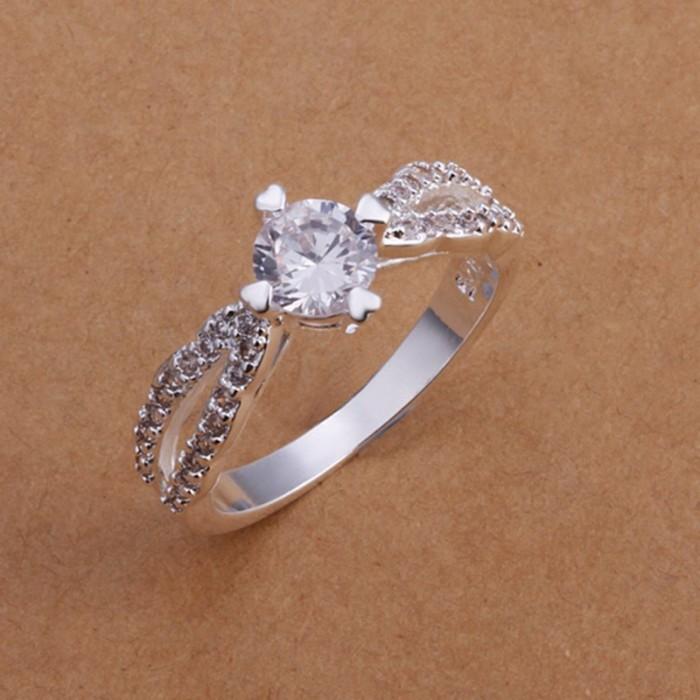 SR173 Fashion Silver Jewelry Crystal Wedding Rings For Women