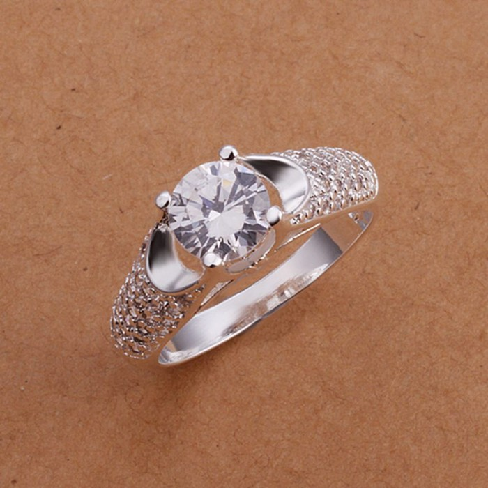 SR177 Fashion Silver Jewelry Crystal Beauty Rings For Women