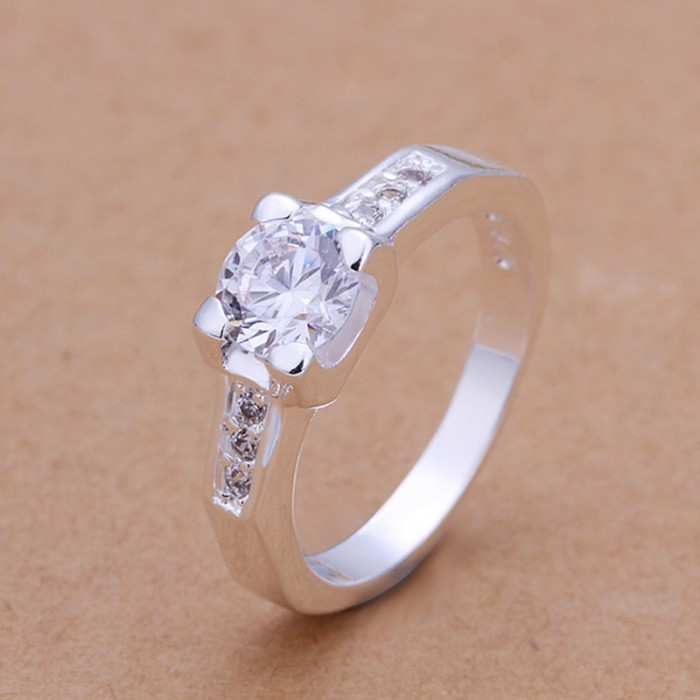 SR180 Fashion Silver Jewelry Crystal Cute Rings For Women