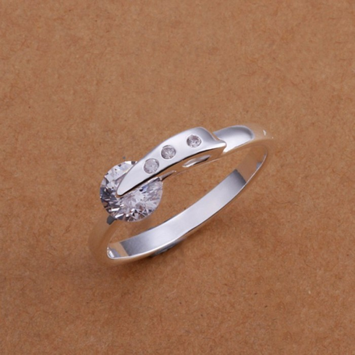 SR182 Fashion Silver Jewelry Crystal Beauty Rings For Women