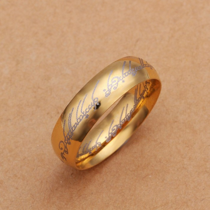 SR225 Fashion Silver Jewelry Gold Word Rings For Men