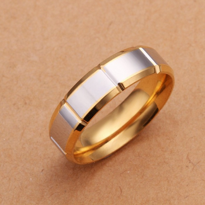 SR229 Fashion Silver Jewelry Gold Rings For Men