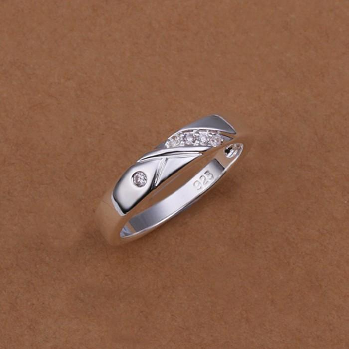 SR240 Fashion Silver Jewelry Crystal Y Rings For Women