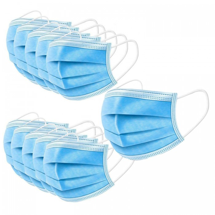 50Pcs Disposable Face Mask 3Ply Hygiene Masks with Elastic Ear Loops