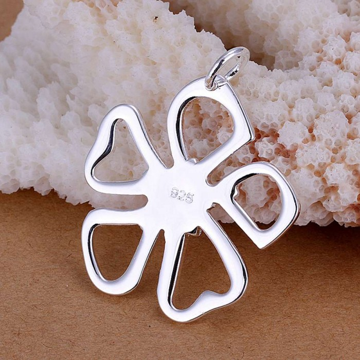 SP006 Fashion Silver Jewelry Flower Chain Pendant Necklace