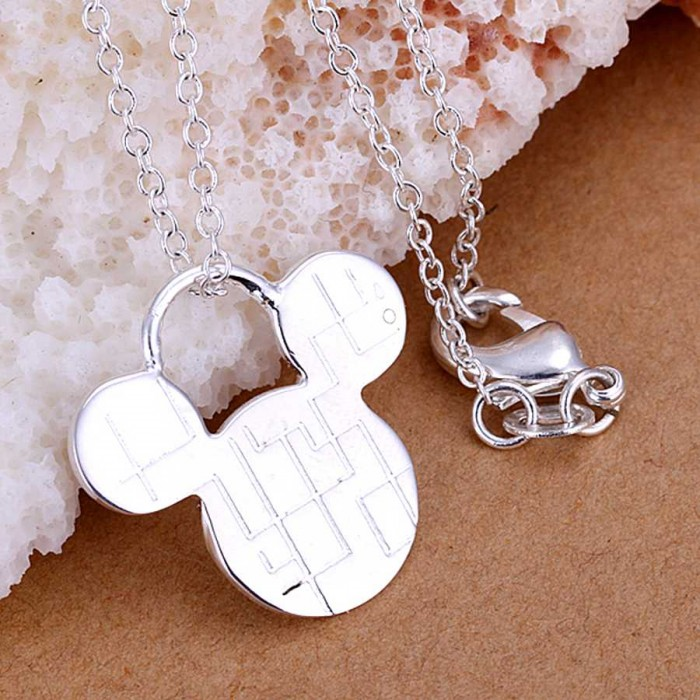 SP159 Fashion Silver Jewelry Cartoon Chain Pendant Necklace