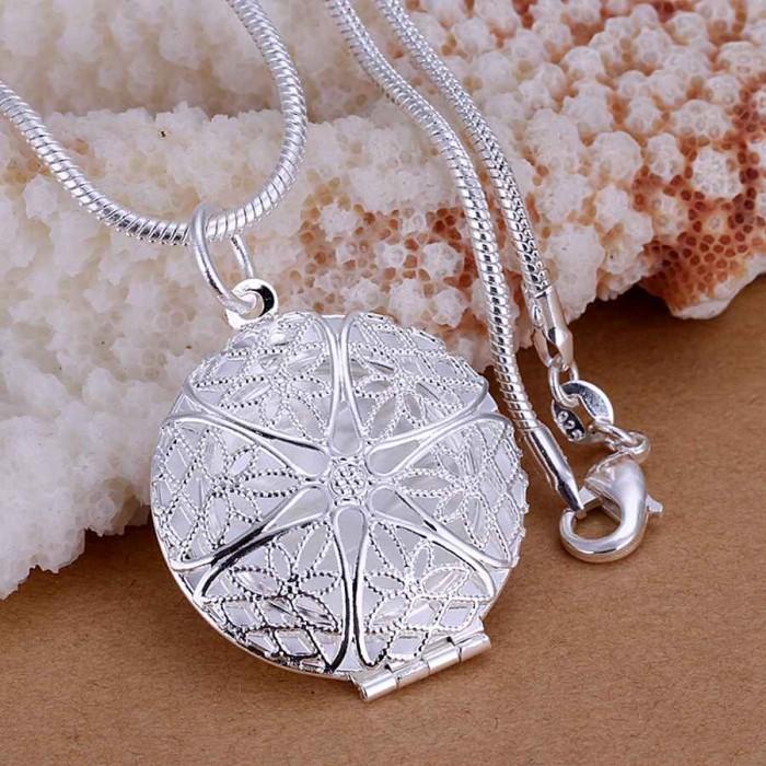 SP167 Fashion Silver Jewelry Rahmen Chain Pendant Necklace