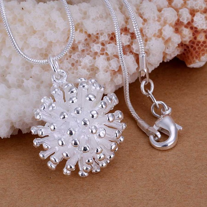 SP178 Fashion Silver Jewelry Firework Chain Pendant Necklace
