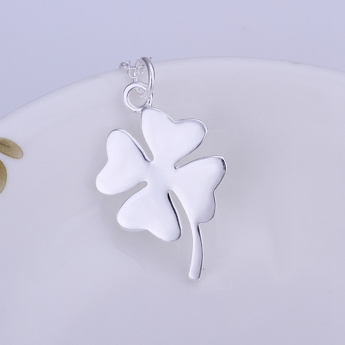 SP246 Fashion Silver Jewelry Flower Chain Pendant Necklace