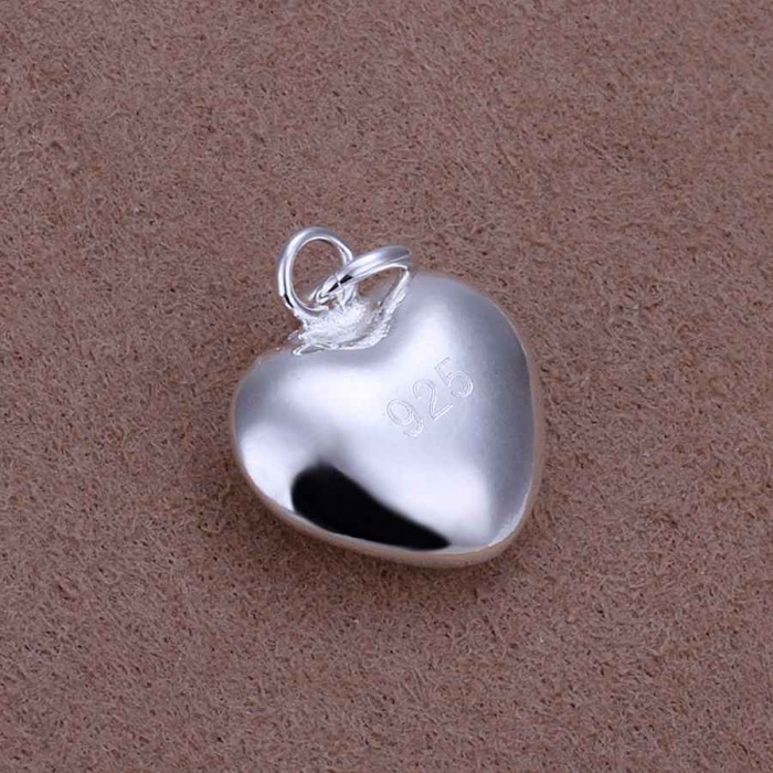 SP301 Fashion Silver Jewelry Heart Chain Pendant Necklace